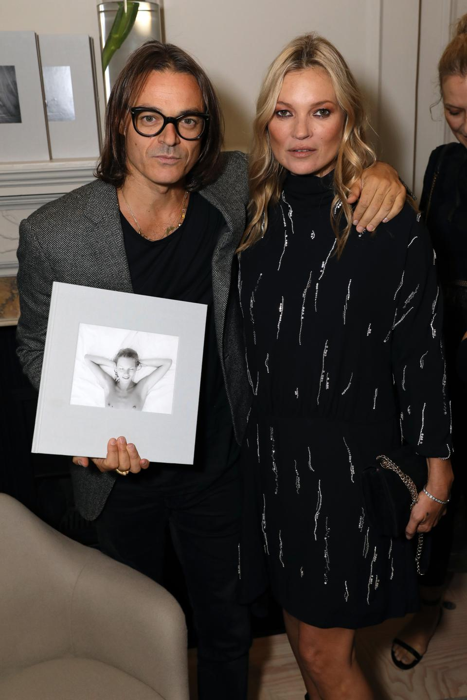 Photographer Mario Sorrenti and model Kate Moss at KATE Launch at 5 Carlos Place
