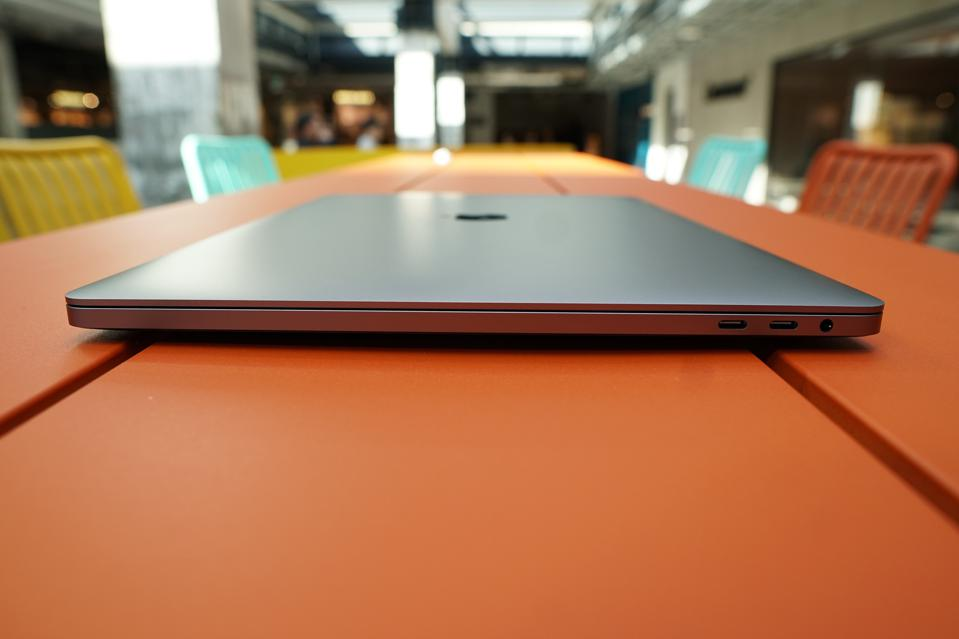 The MacBook Pro has premium craftsmanship with a sturdy hinge.