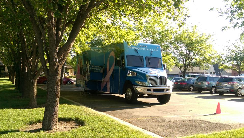 mobile mammogram vehicle