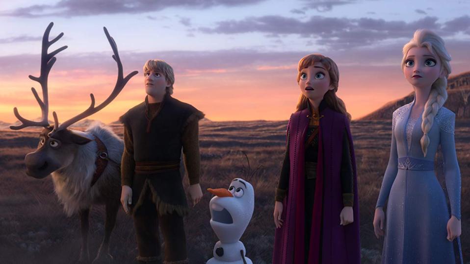 Kristen Bell, Idina Menzel, Josh Gad, and Jonathan Groff in Walt Disney's 'Frozen II'