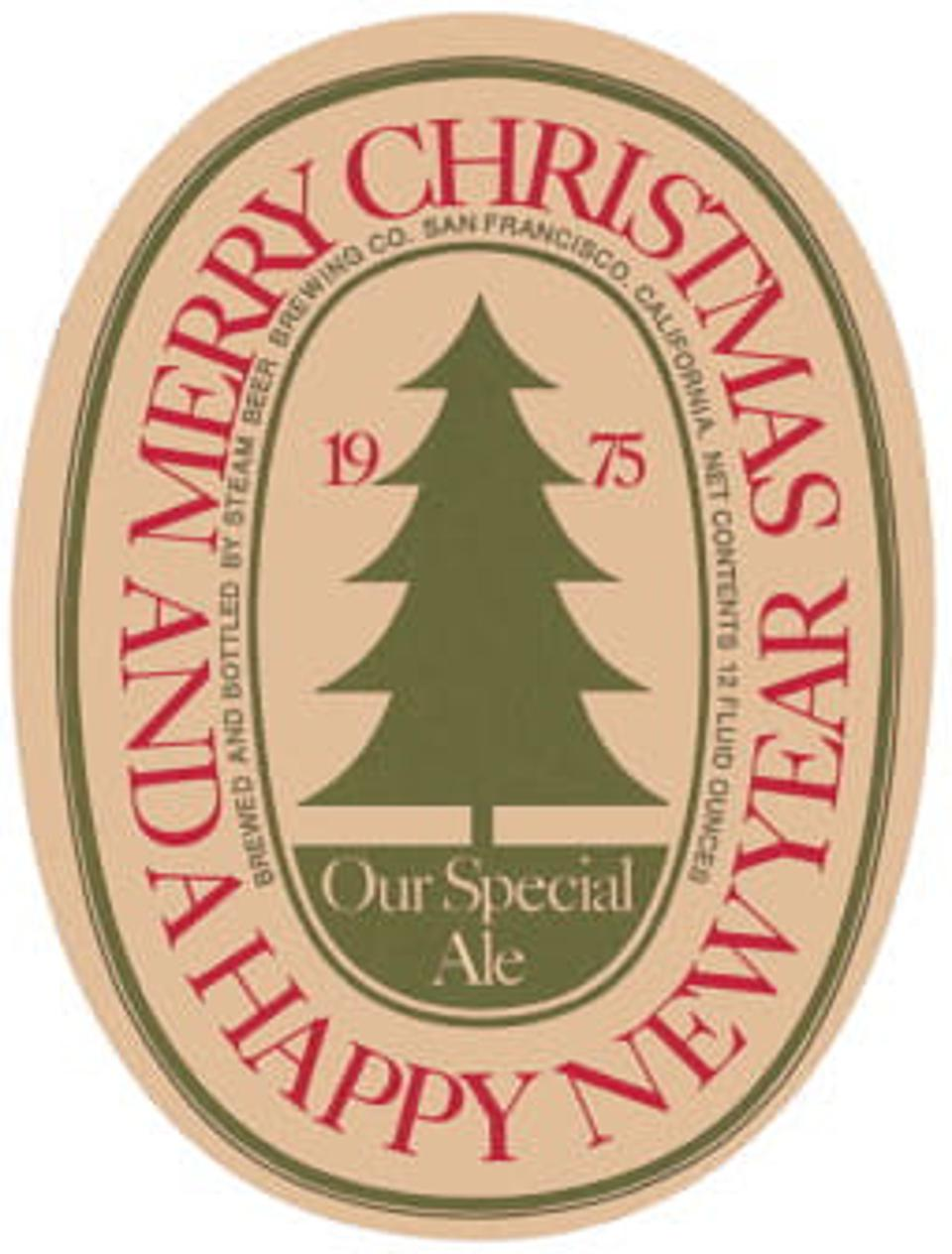 Here is the first Christmas ale label.