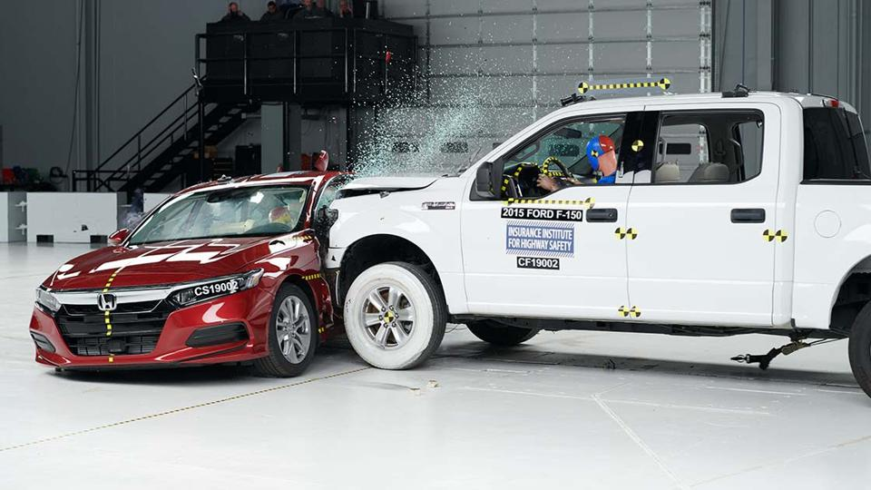 Side-impact crash test