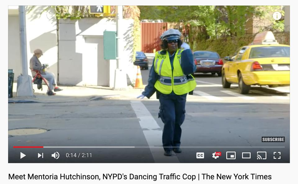 This dancing traffic cop finds meaning in getting people home safely.