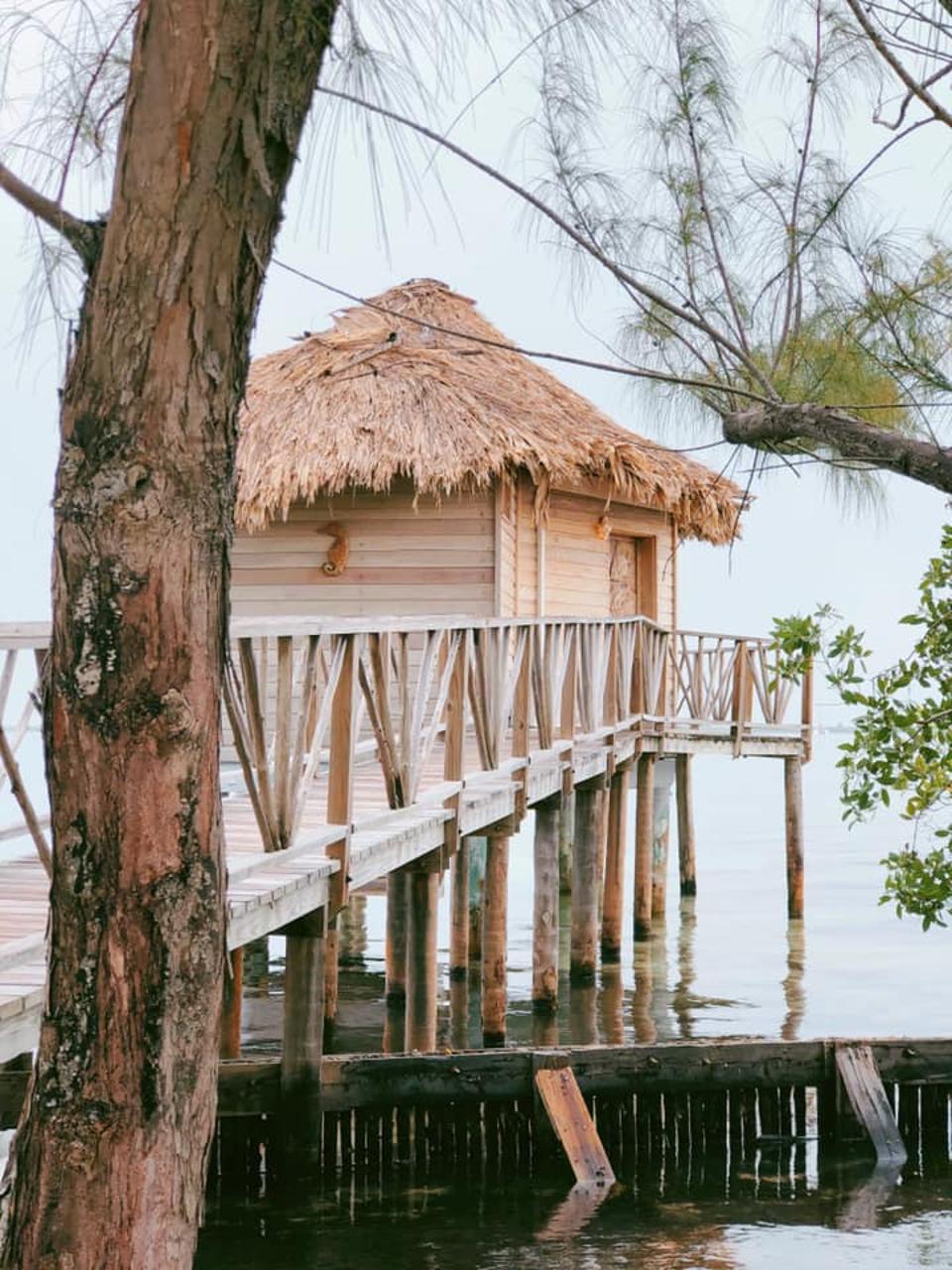 Overwater bungalow.