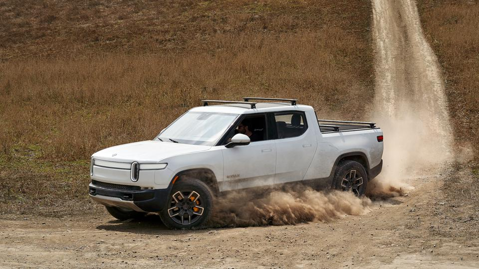 Rivian R1T all-electric pickup truck.