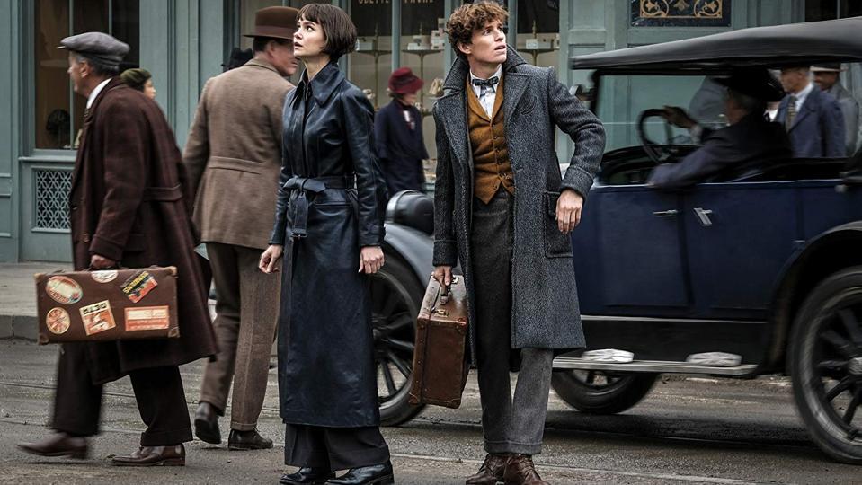 Eddie Redmayne and Katherine Waterson in 'Fantastic Beasts The Crimes of Grindelwald'