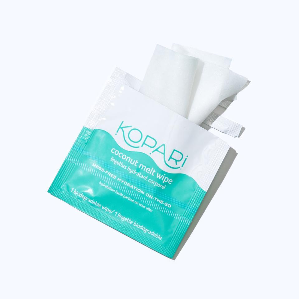 Skincare gifts for travelers - kopari melt wipes