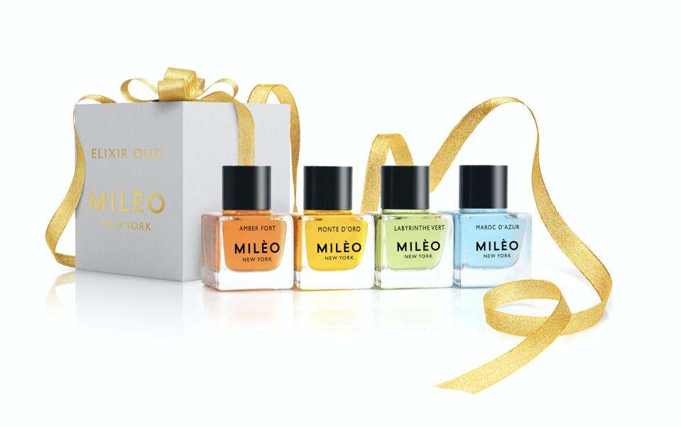skincare gifts for travelers Mileo New York Elixir Oud Collection Mini