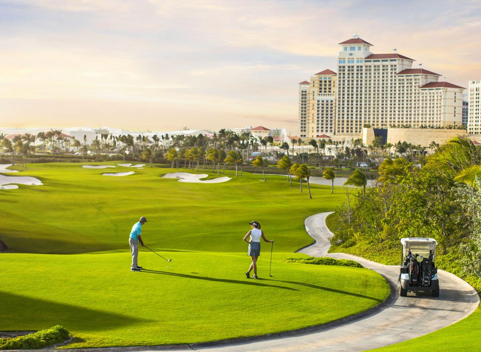A view from the Jack Nicklaus-designed Baha Mar Royal Blue Golf Course, in Nassau.