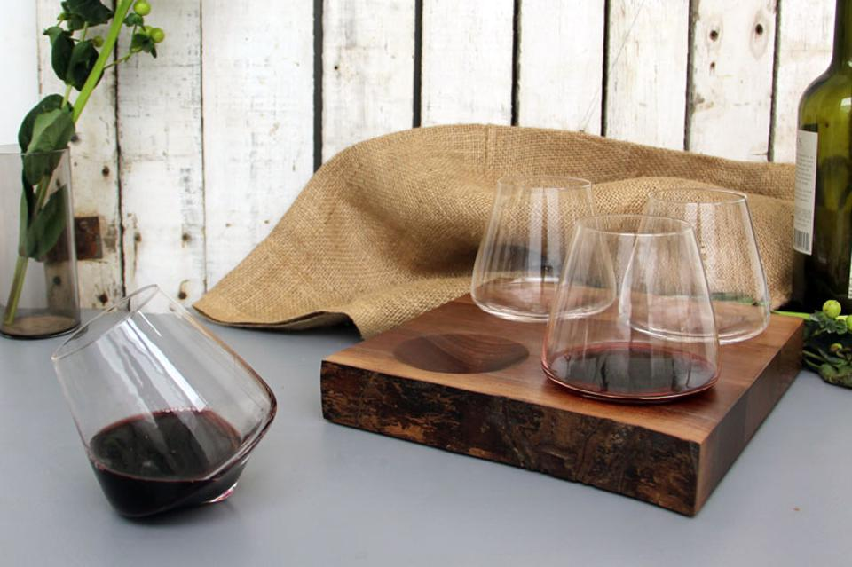 wine glass gifts, Illinois products, handmade gifts, blown glass