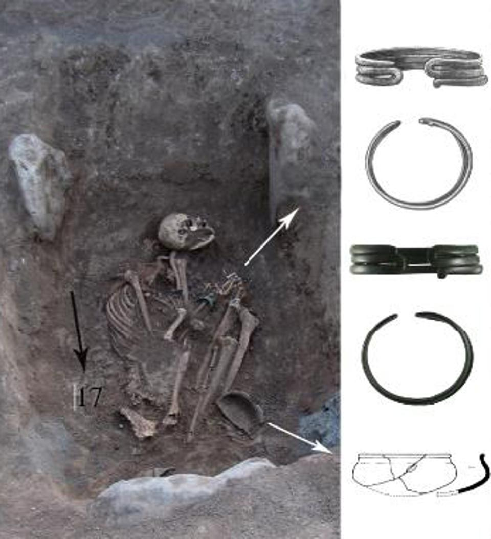 Burial 17 from Bover I necropolis, Armenia