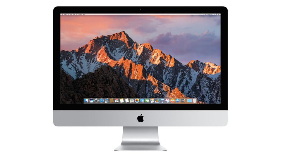 Apple iMac on a white background.
