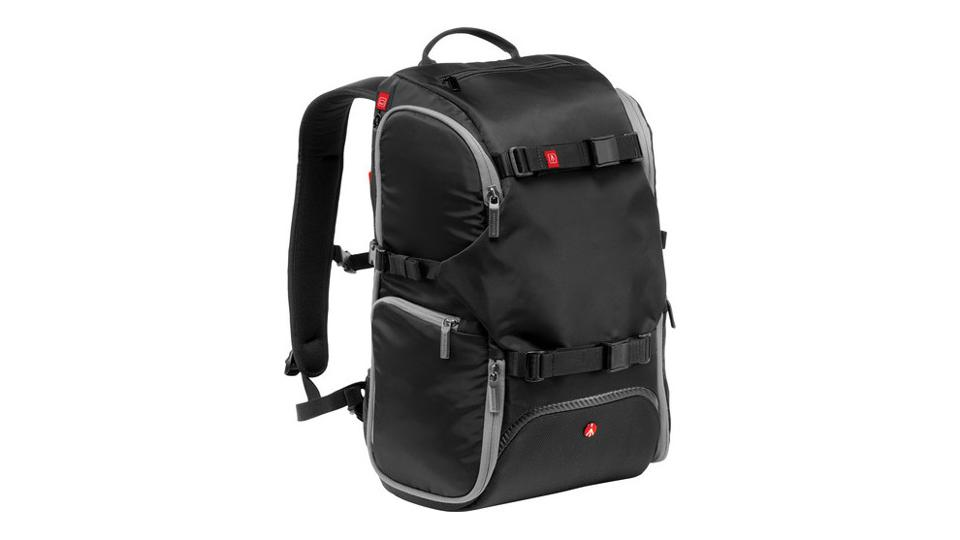 Manfrotto Advanced Travel Backpack on a white background.