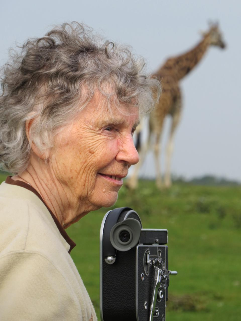 Anne Innis Dagg in a scene from ″The Woman Who Loved Giraffes.″