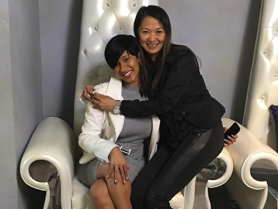 Cardi B and Jenny Bui