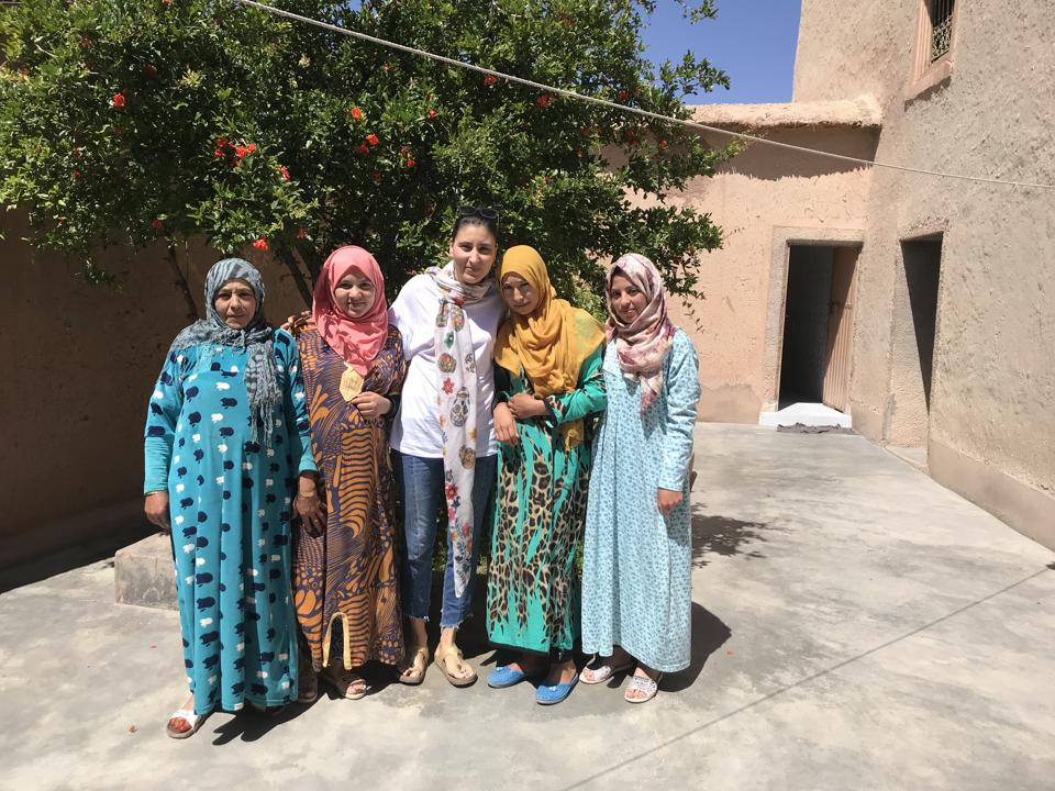 Zina Bencheikh (center) does research for a trip.INTREPID TRAVEL