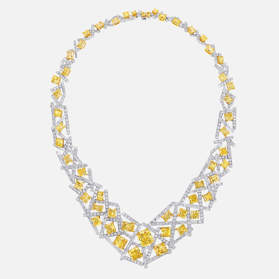 Threads Yellow and White Diamond Necklace by Graff.