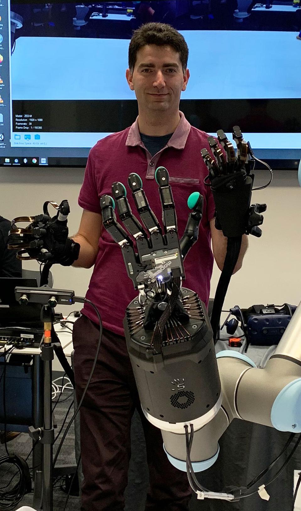 HaptX Glove And Shadow Hand
