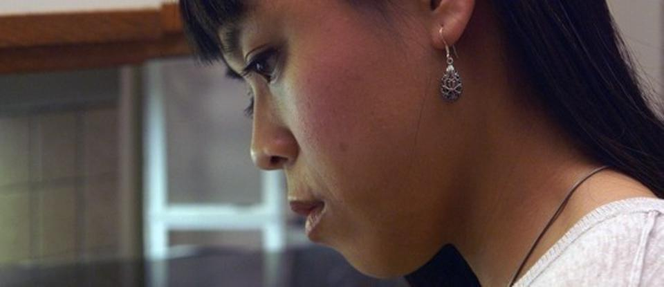 Nikki Calonge as Abby in 'Feast of the Epiphany'