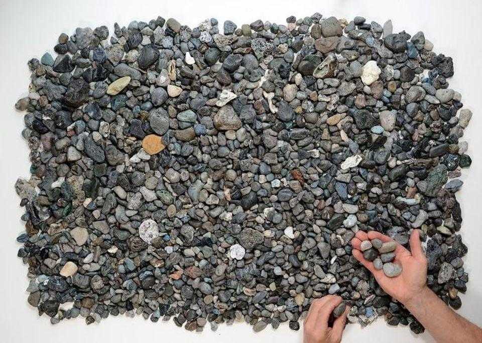 Pyroplastics, human-made pebbles collected on the coasts of Cornwall.