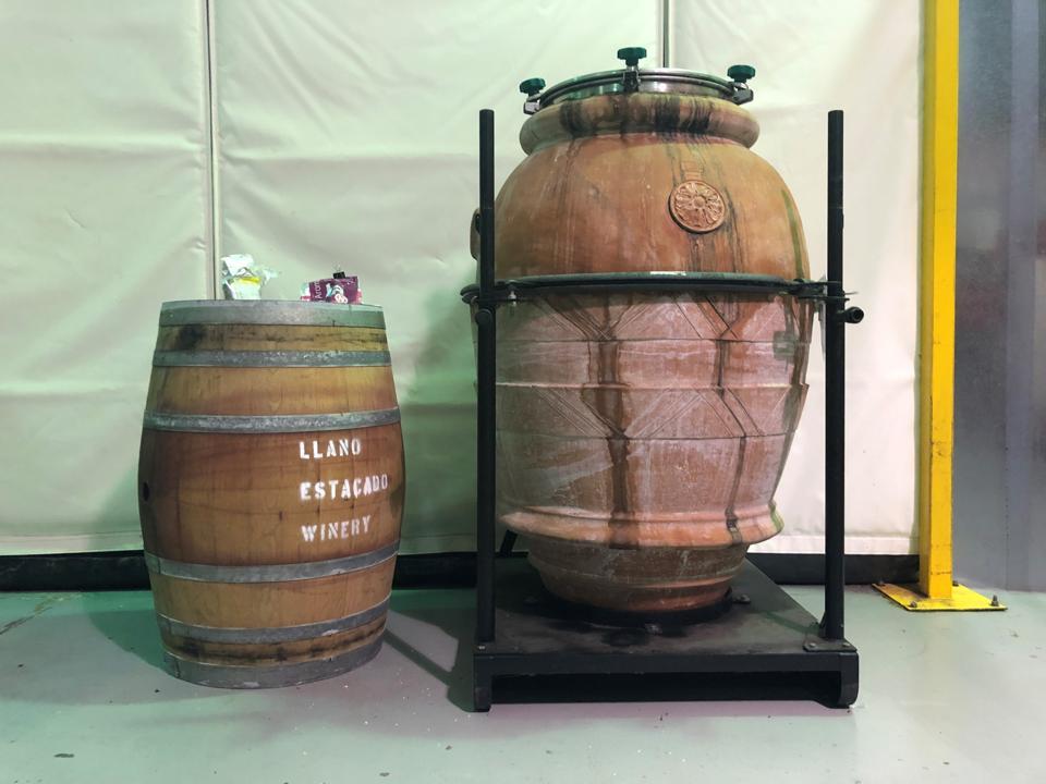 Teracotta pot barrel at Llano Estacado winery in Lubbock, Texas