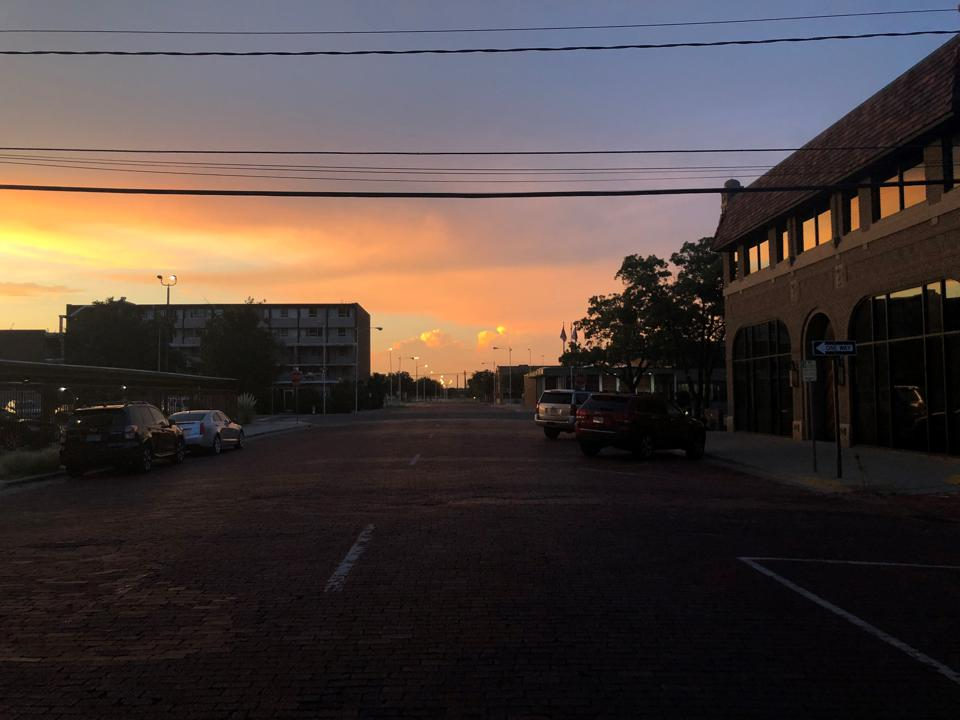 Sunset in Downtown Lubbock, Texas
