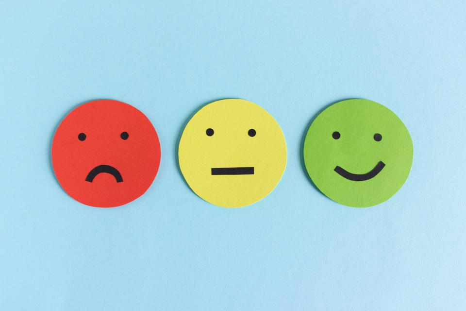 Collection of smileys for giving feedback or rating