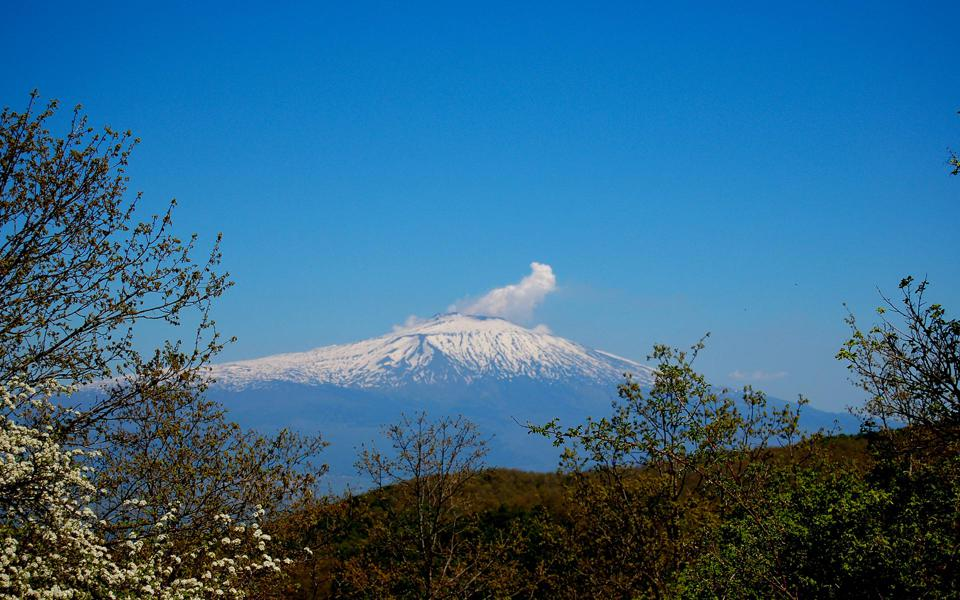 View of the Top of Mount Etna