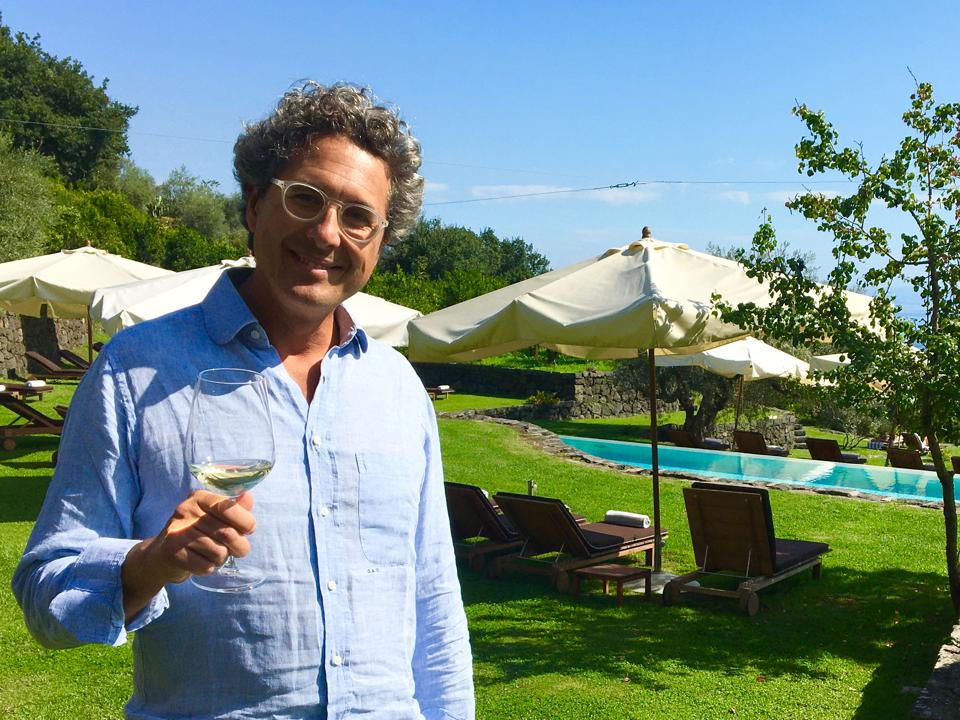 Wine producer Guido Coffa on Mount Etna, Sicily