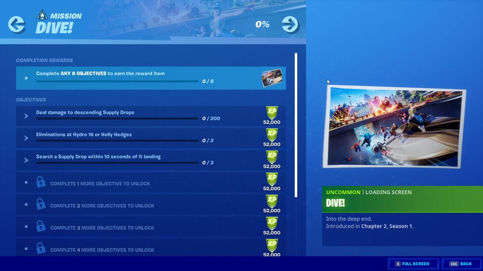 Fortnite Chapter 2 Week 7 Dive Challenges Revealed And