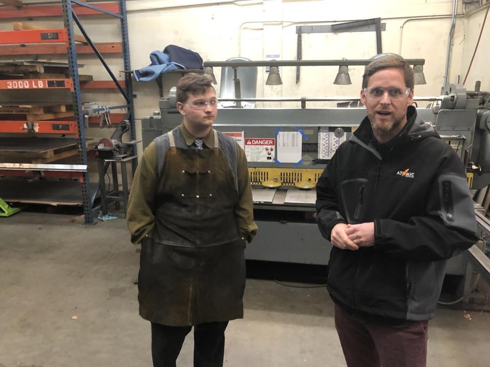 Student intern and owner at Atomic Fabrication, Tukwila, Washington