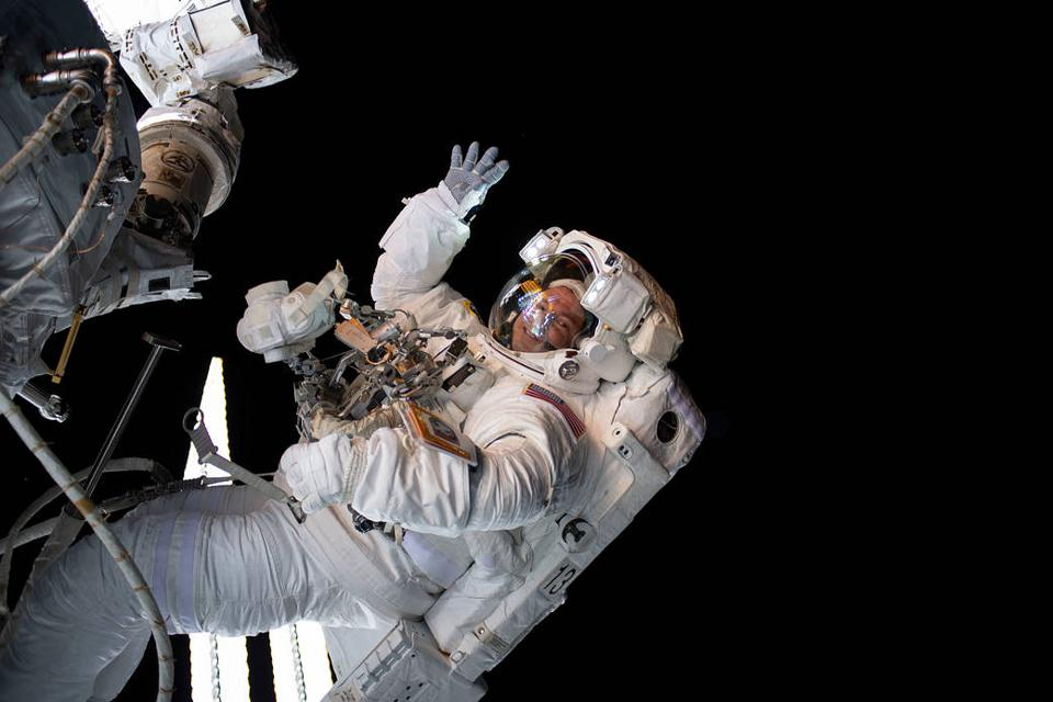 NASA traditionally flies government astronauts in space, such as Andrew Morgan.