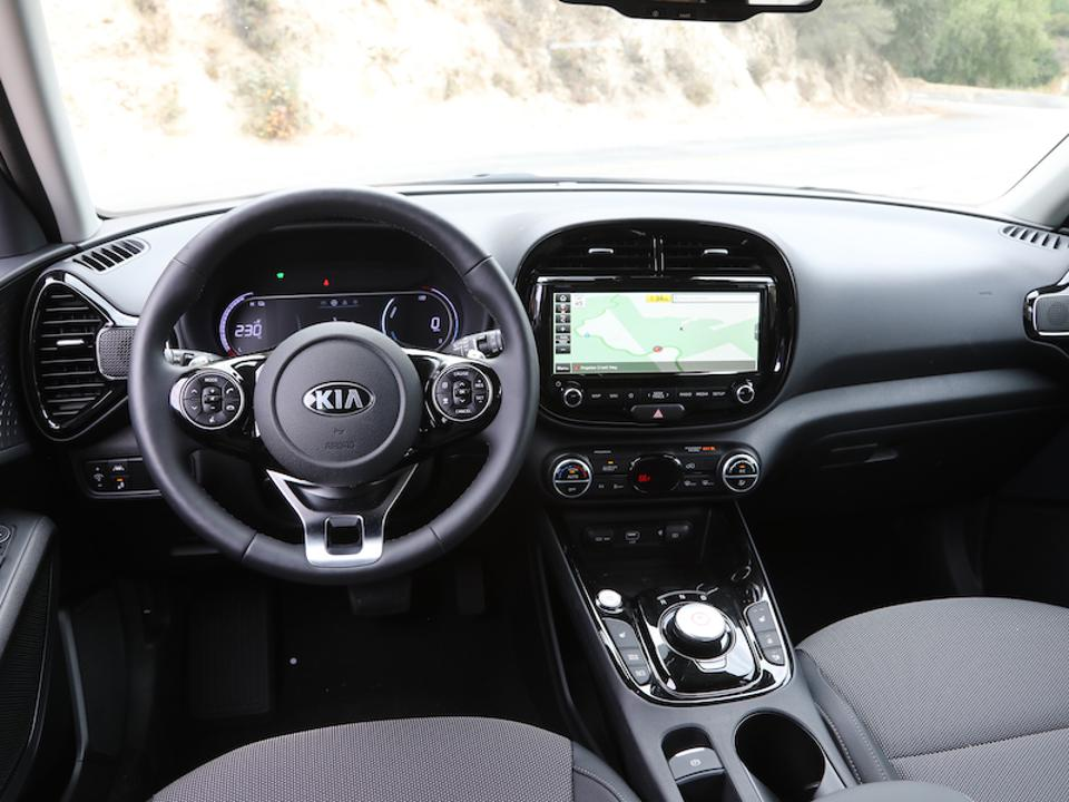 The interior is simple yet neat with a 10.3-inch touchscreen.