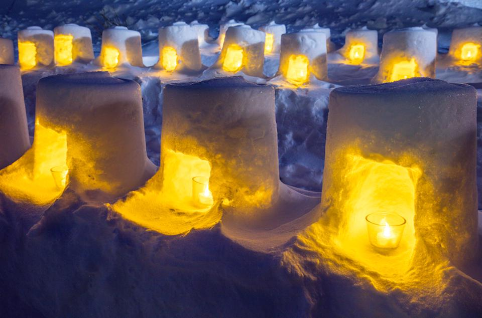 Aone Onsen Snow Illumination