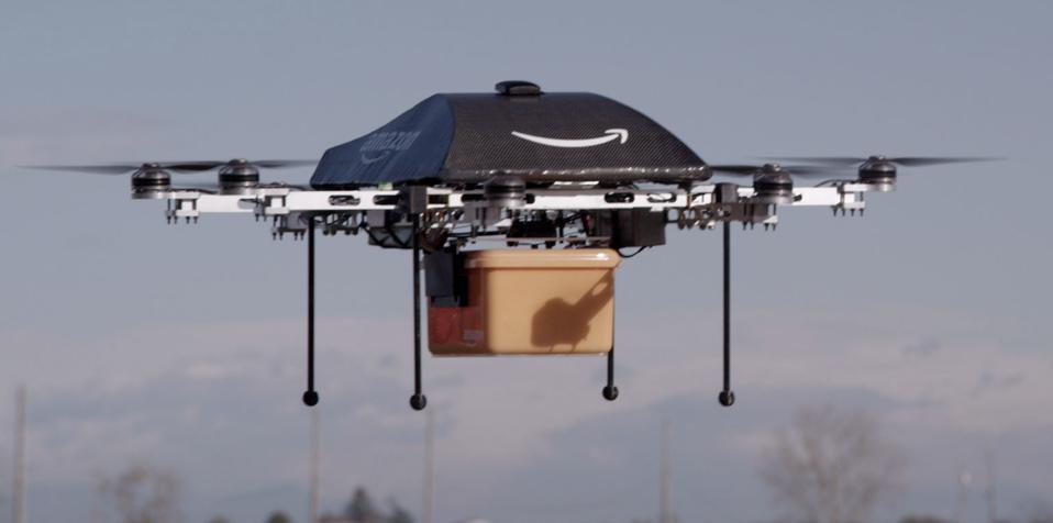 Amazon Prime Air testing drone delivery