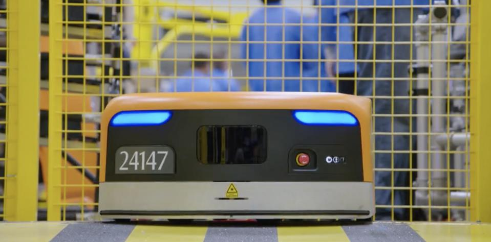 Kiva robot close-up