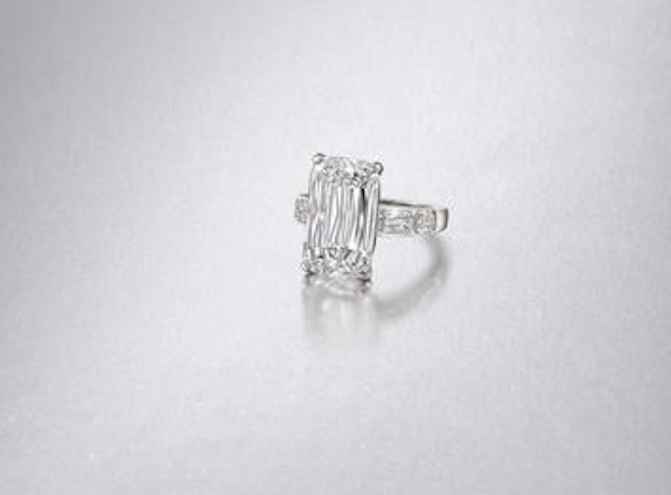 Ashoka cut diamond ring