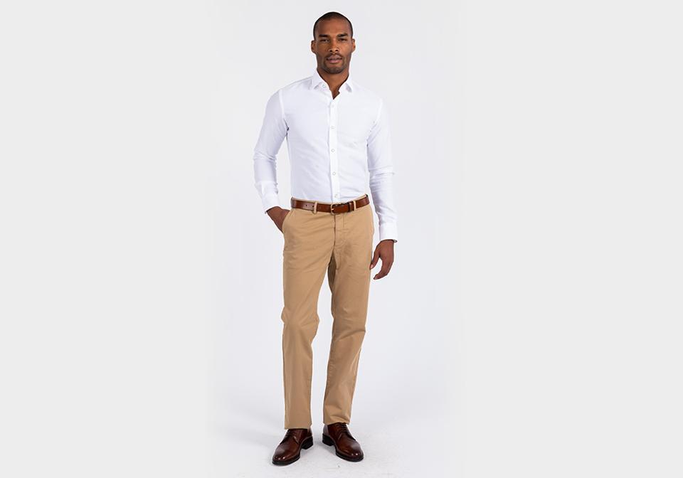 The White Kent Sport Texture Dress Shirt