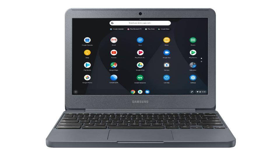 Samsung Chromebook on a white background.