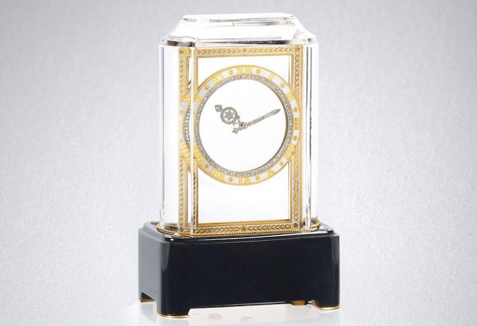 An Art Deco ″Mystery clock″ by Cartier