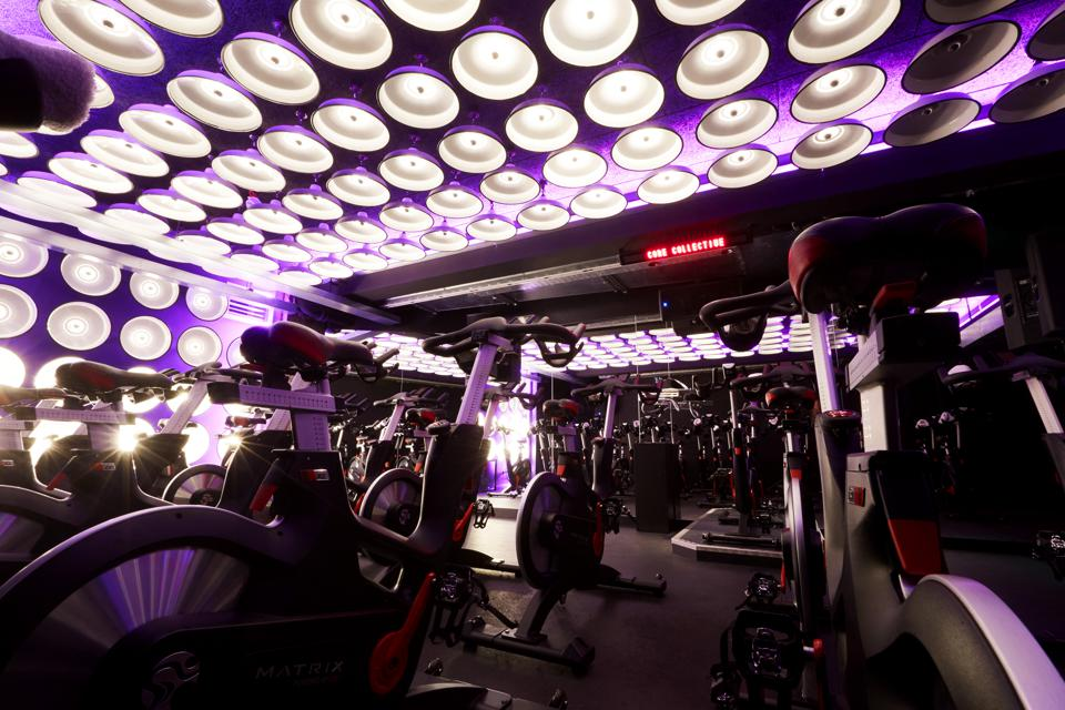 The spin studio at the new Core Collective on St John Wood High Street