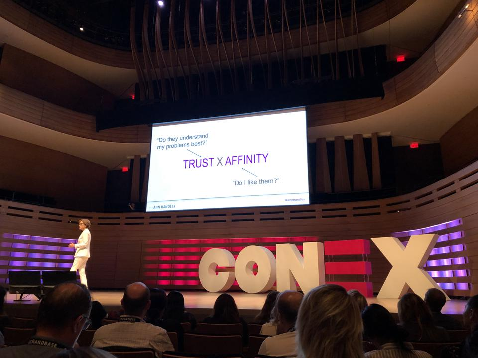 Ann Handley speaks at Conex in Toronto, Canada.