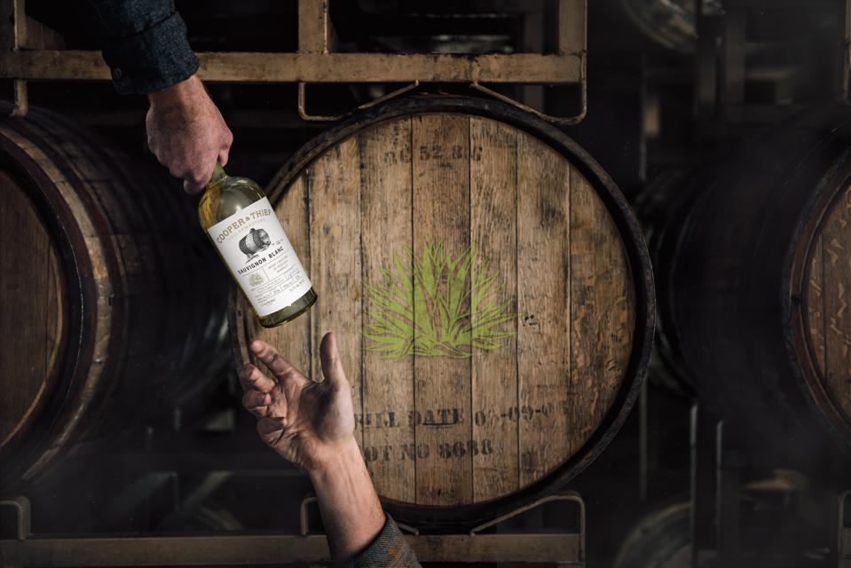 Cooper & Thief ages wine in both bourbon and tequila barrels.