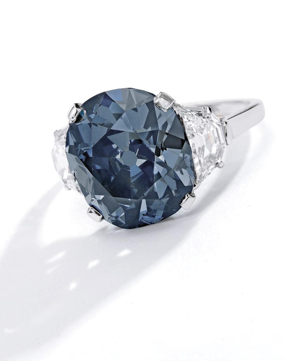 blue diamond on offer at Sotheby's New York