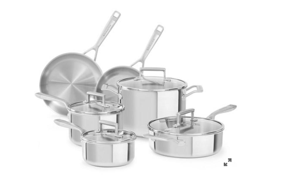 Try-Ply Stainless Steel 10-Piece Set