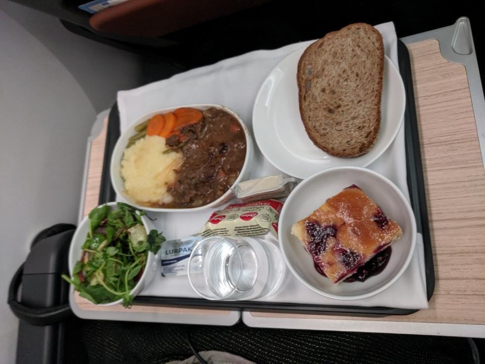 Qantas premium economy meal