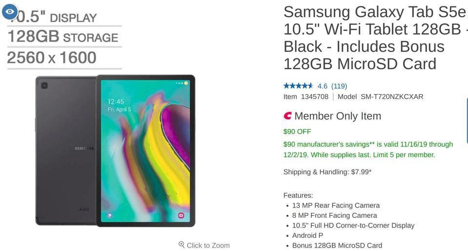 Costco Black Friday tablet deals, Costco Cyber Monday tablet deals,