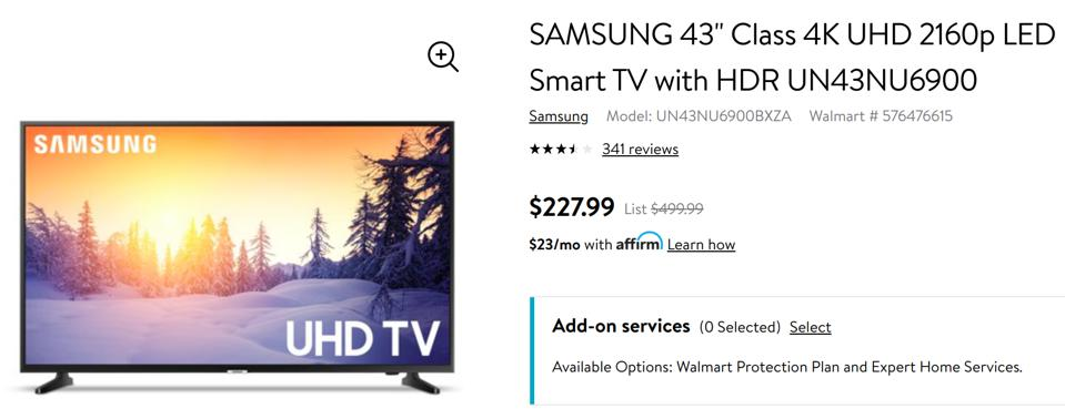 Walmart's best Black Friday TV deals, Black Friday best TV deals,