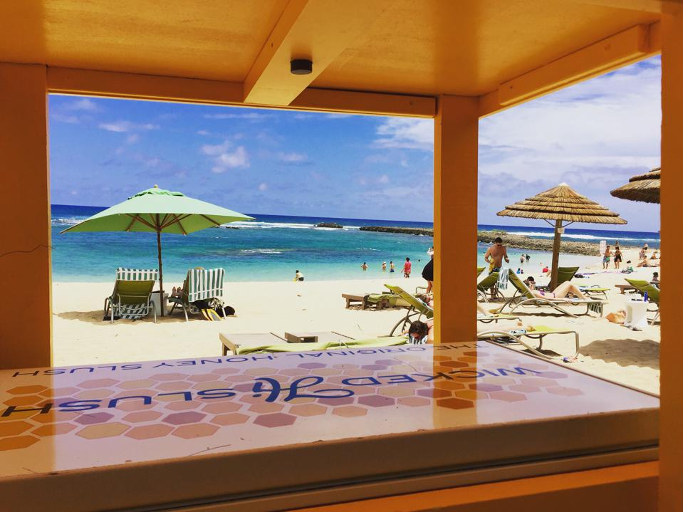 The view from the Wicked Hi Slush stand at Turtle Bay Resort on Oʻahu