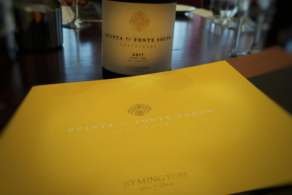 Lunch with Rupert Symington to Taste Quinta da Fonte Souto Wines